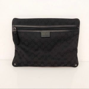 Gucci Black Monogram Messenger